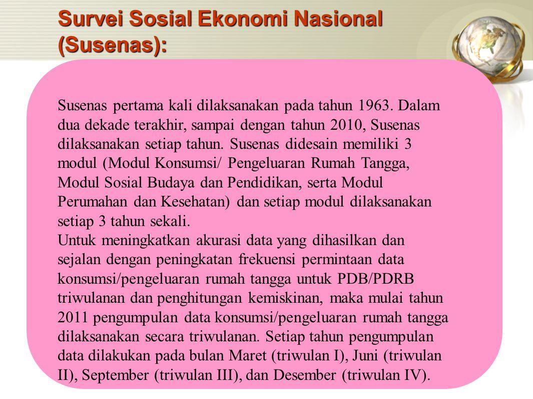 Survei Sosial Ekonomi Nasional (Susenas):