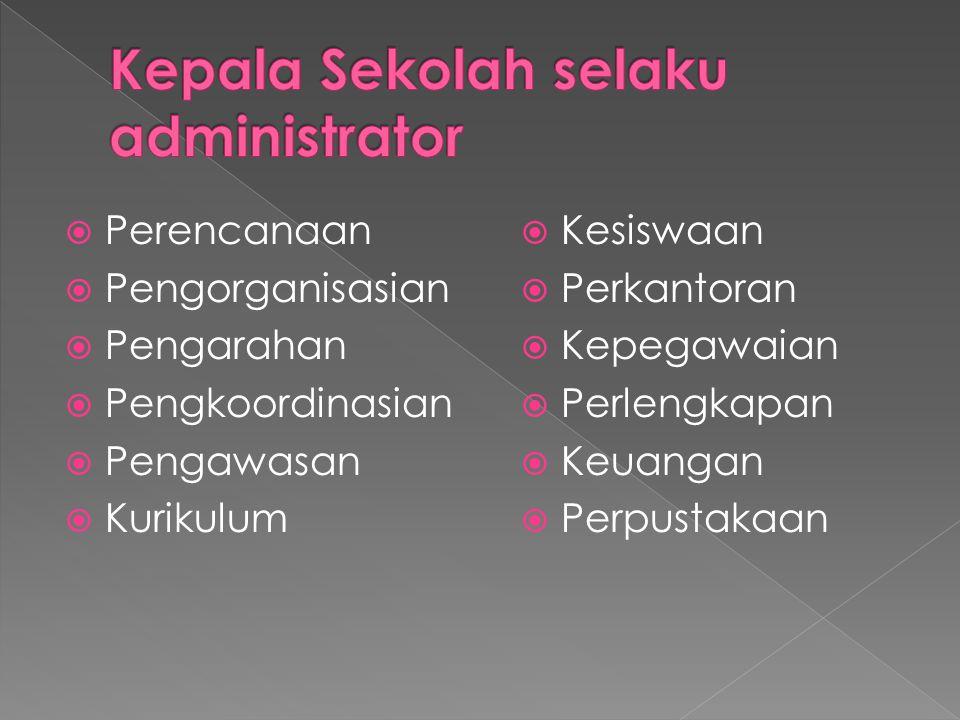 Kepala Sekolah selaku administrator