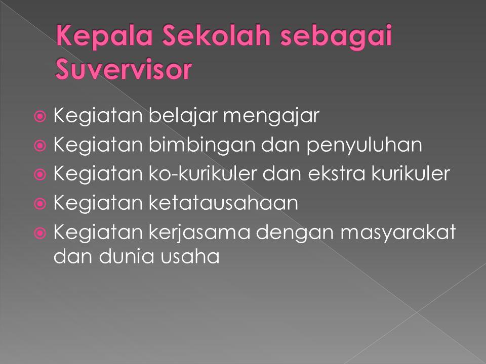 Kepala Sekolah sebagai Suvervisor