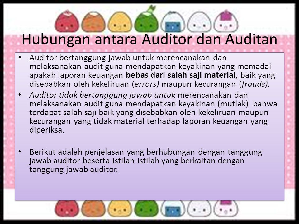 Hubungan antara Auditor dan Auditan