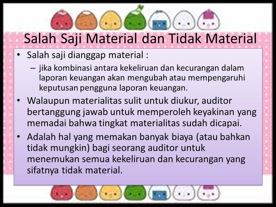 Salah Saji Material dan Tidak Material