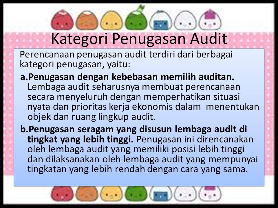Kategori Penugasan Audit