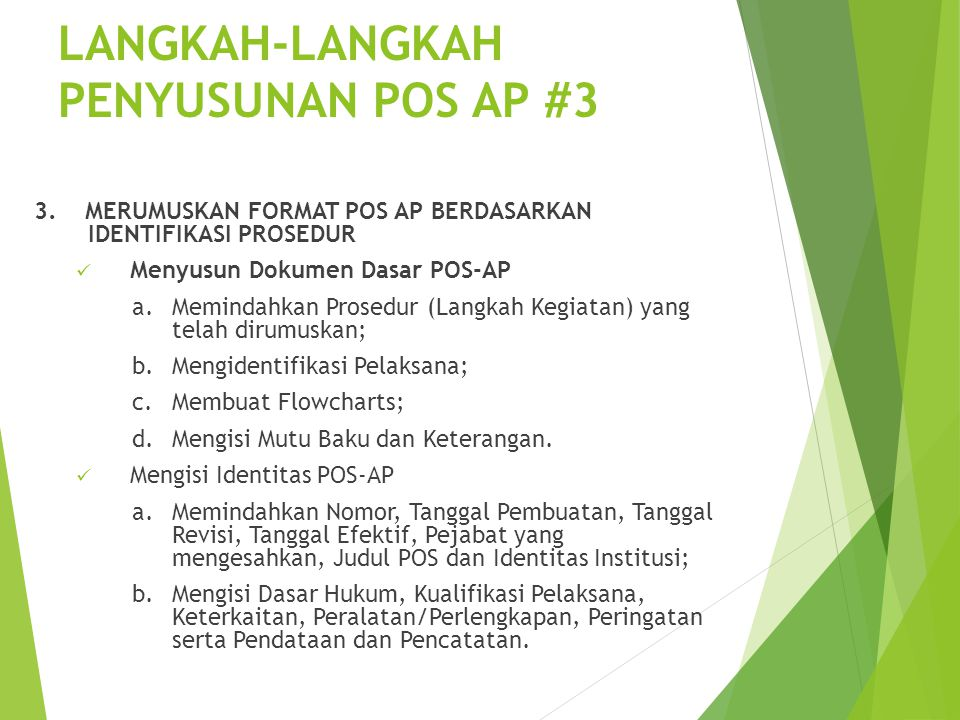 LANGKAH-LANGKAH PENYUSUNAN POS AP #3