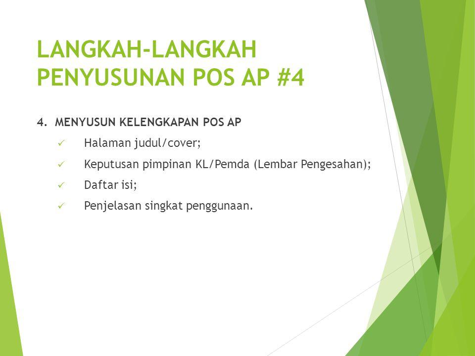 LANGKAH-LANGKAH PENYUSUNAN POS AP #4