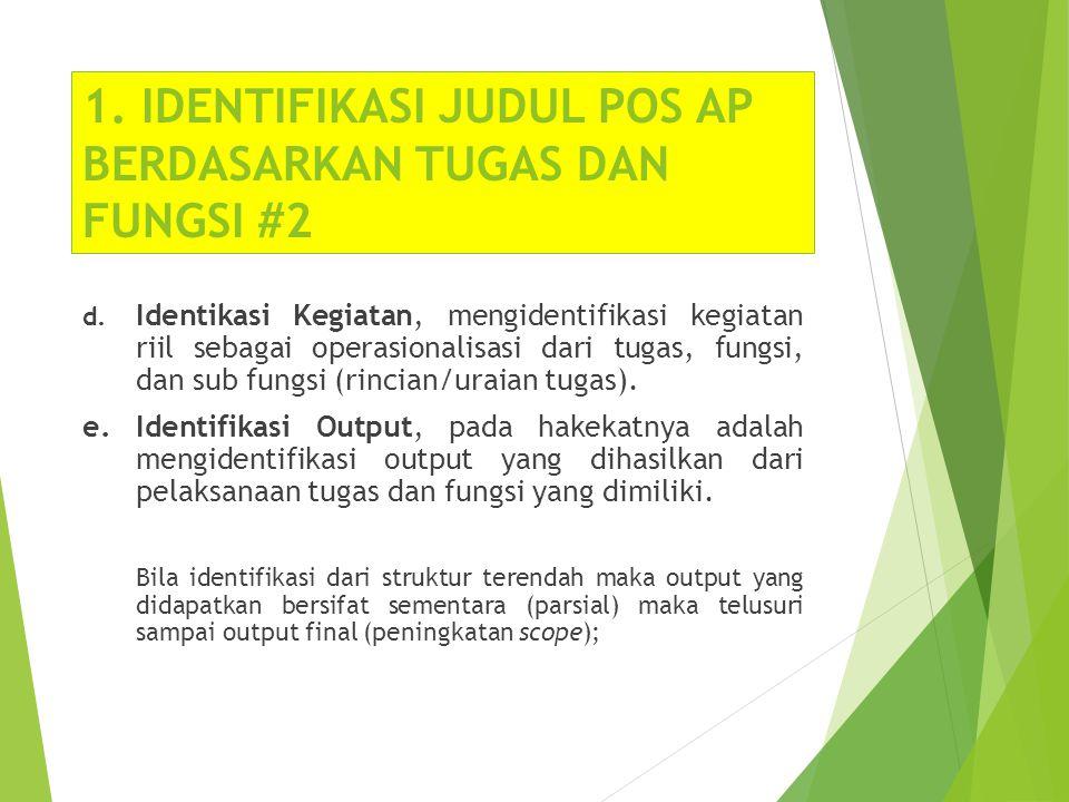 1. IDENTIFIKASI JUDUL POS AP BERDASARKAN TUGAS DAN FUNGSI #2
