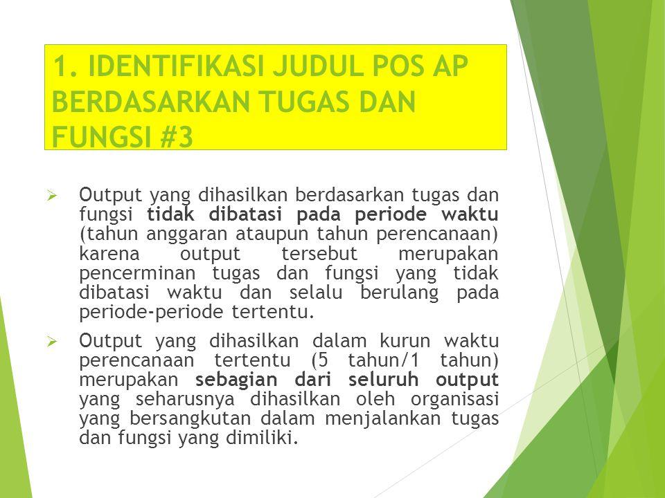 1. IDENTIFIKASI JUDUL POS AP BERDASARKAN TUGAS DAN FUNGSI #3