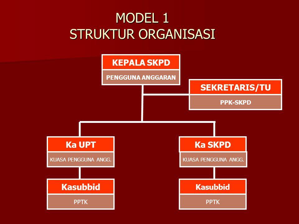 MODEL 1 STRUKTUR ORGANISASI