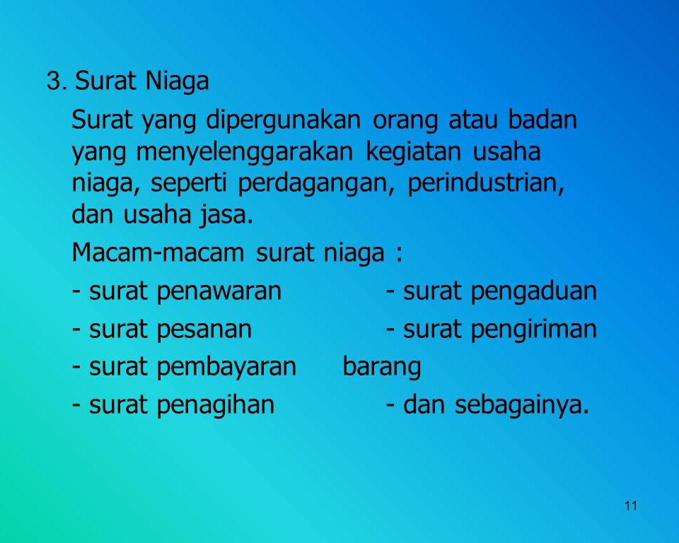 3. Surat Niaga