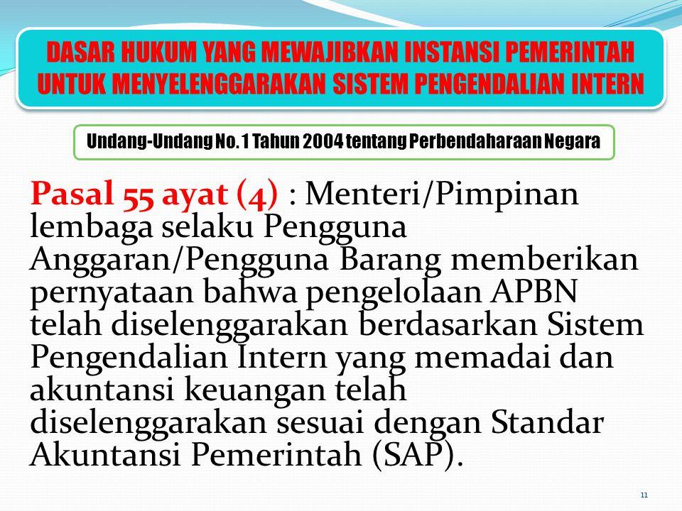 Undang-Undang No. 1 Tahun 2004 tentang Perbendaharaan Negara