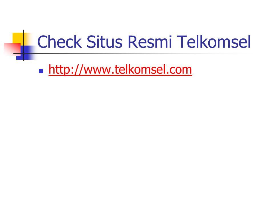 Check Situs Resmi Telkomsel