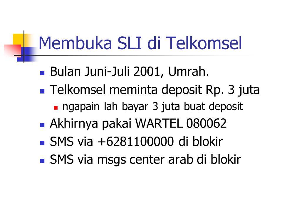 Membuka SLI di Telkomsel