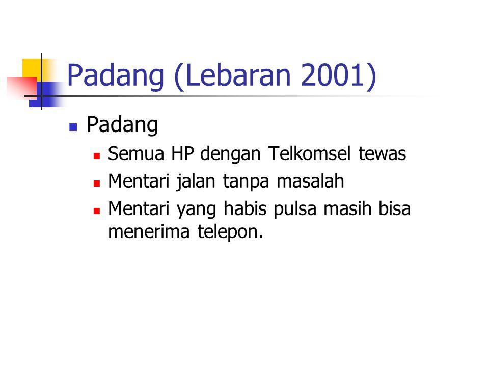 Padang (Lebaran 2001) Padang Semua HP dengan Telkomsel tewas