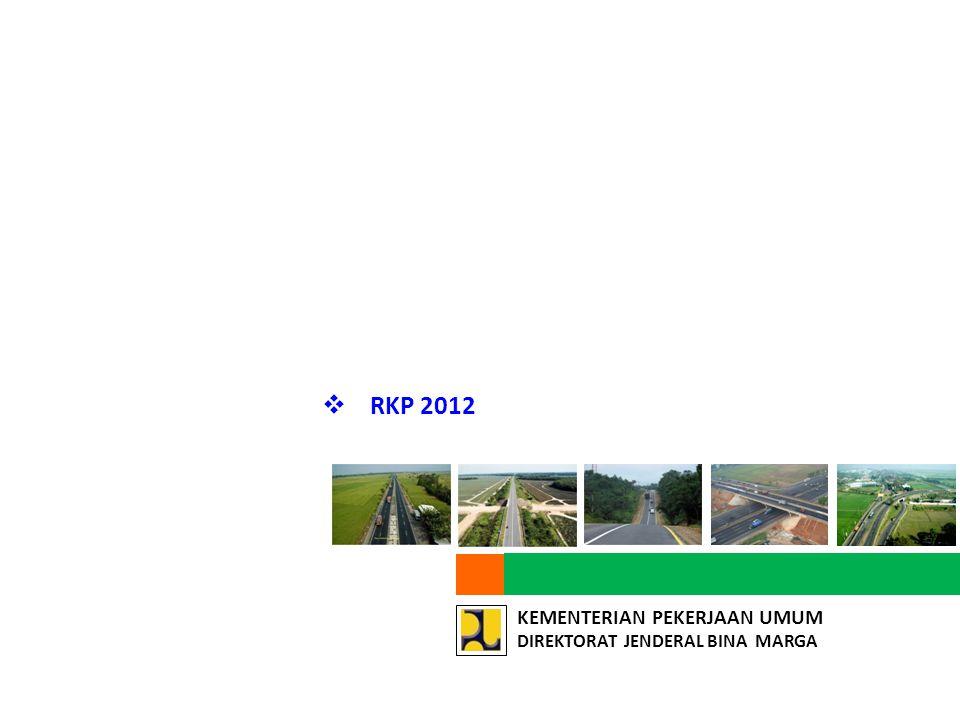 RKP 2012 Panjang Jalan yang di Preservasi 36.319 km