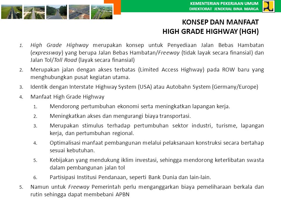 RUAS-RUAS HIGH GRADE HIGHWAY SUMATERA