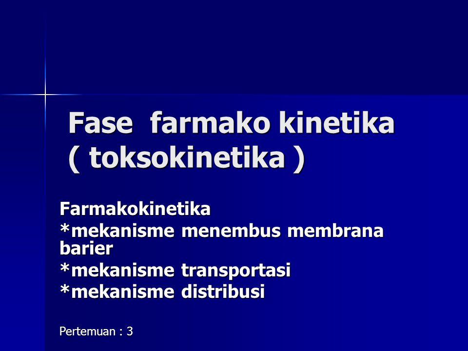 Fase farmako kinetika ( toksokinetika )