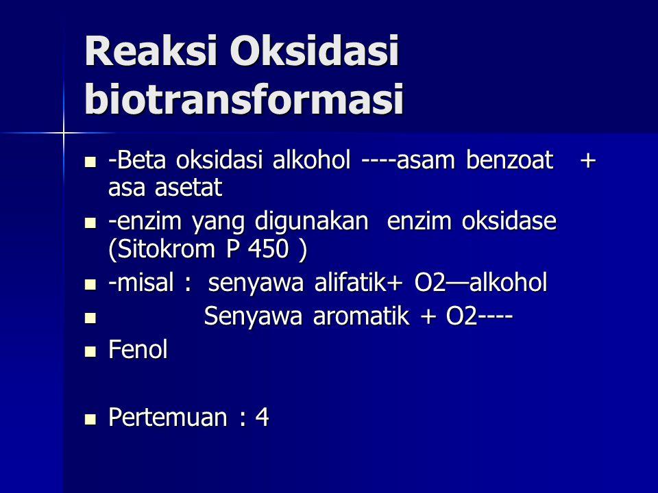 Reaksi Oksidasi biotransformasi