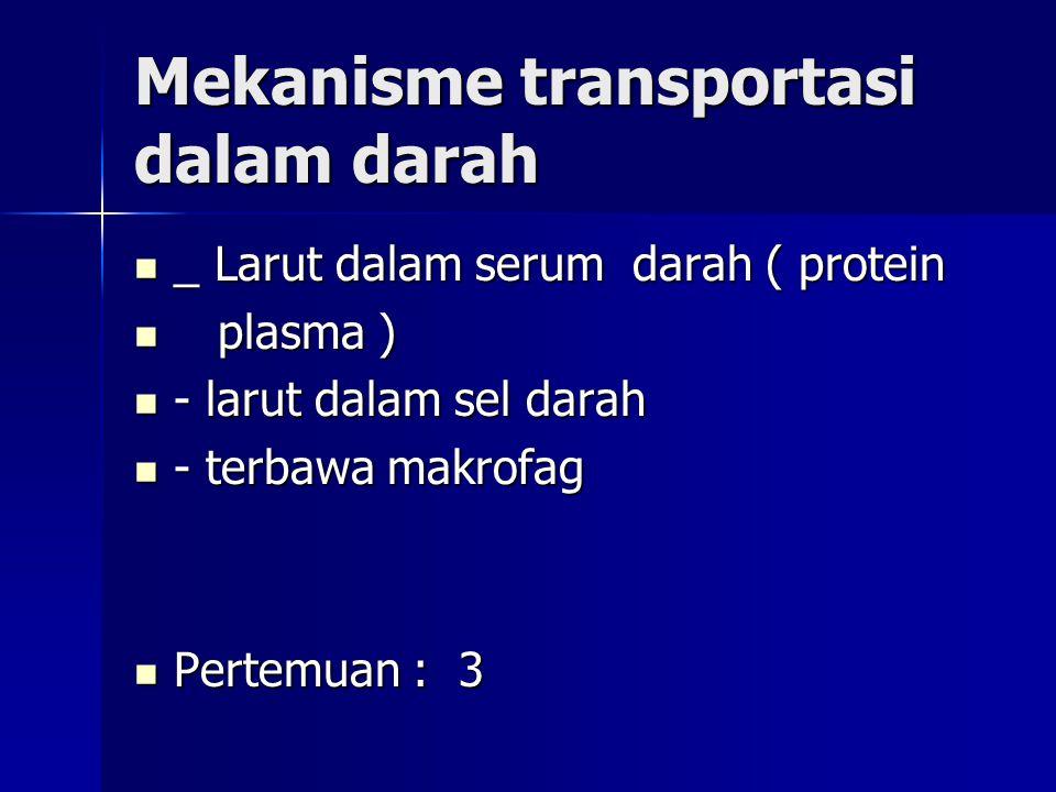 Mekanisme transportasi dalam darah