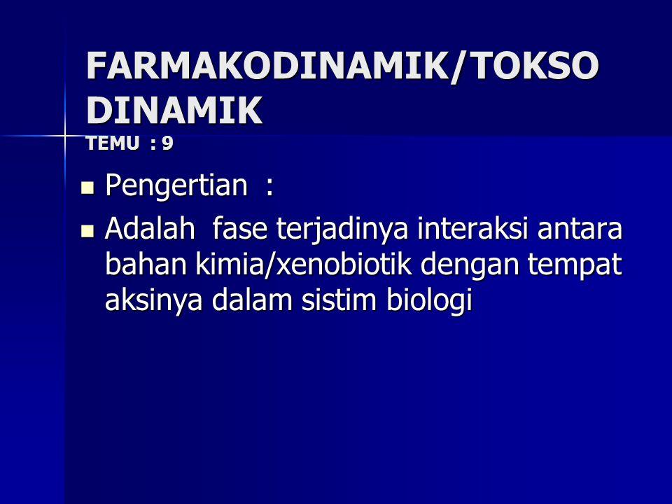 FARMAKODINAMIK/TOKSODINAMIK TEMU : 9
