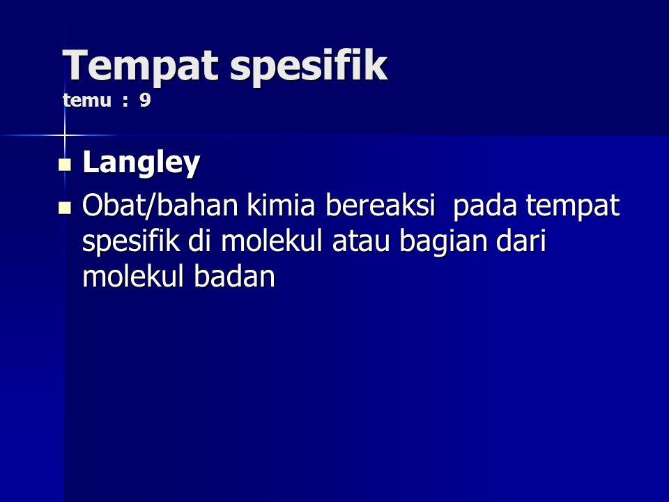 Tempat spesifik temu : 9 Langley