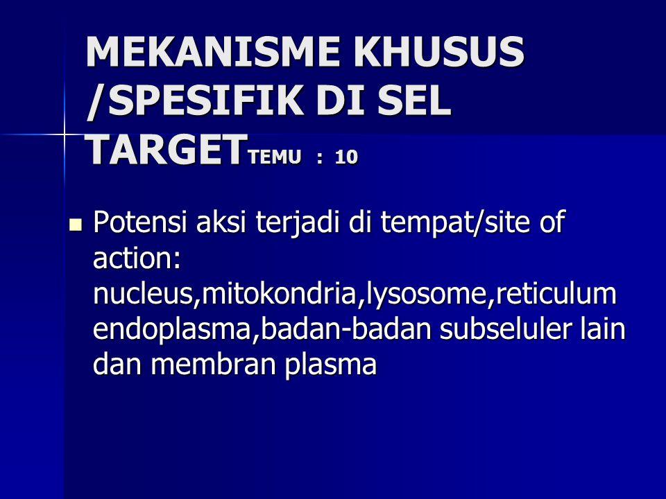 MEKANISME KHUSUS /SPESIFIK DI SEL TARGETTEMU : 10