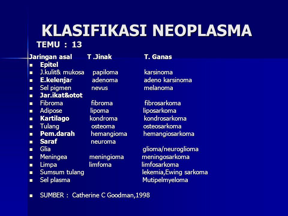 KLASIFIKASI NEOPLASMA TEMU : 13