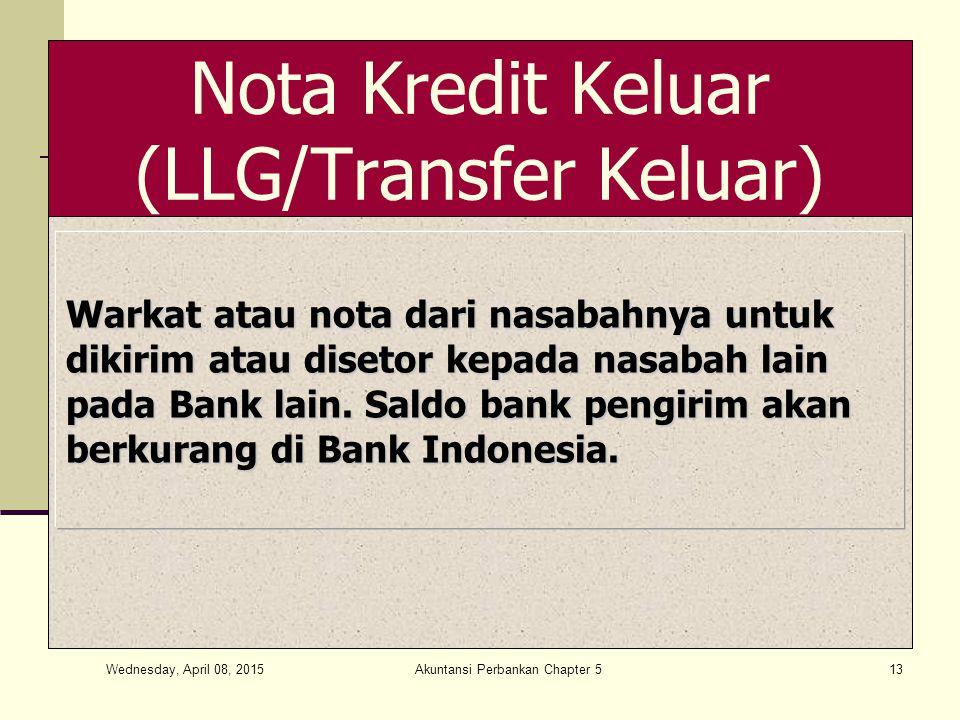 Nota Kredit Keluar (LLG/Transfer Keluar)