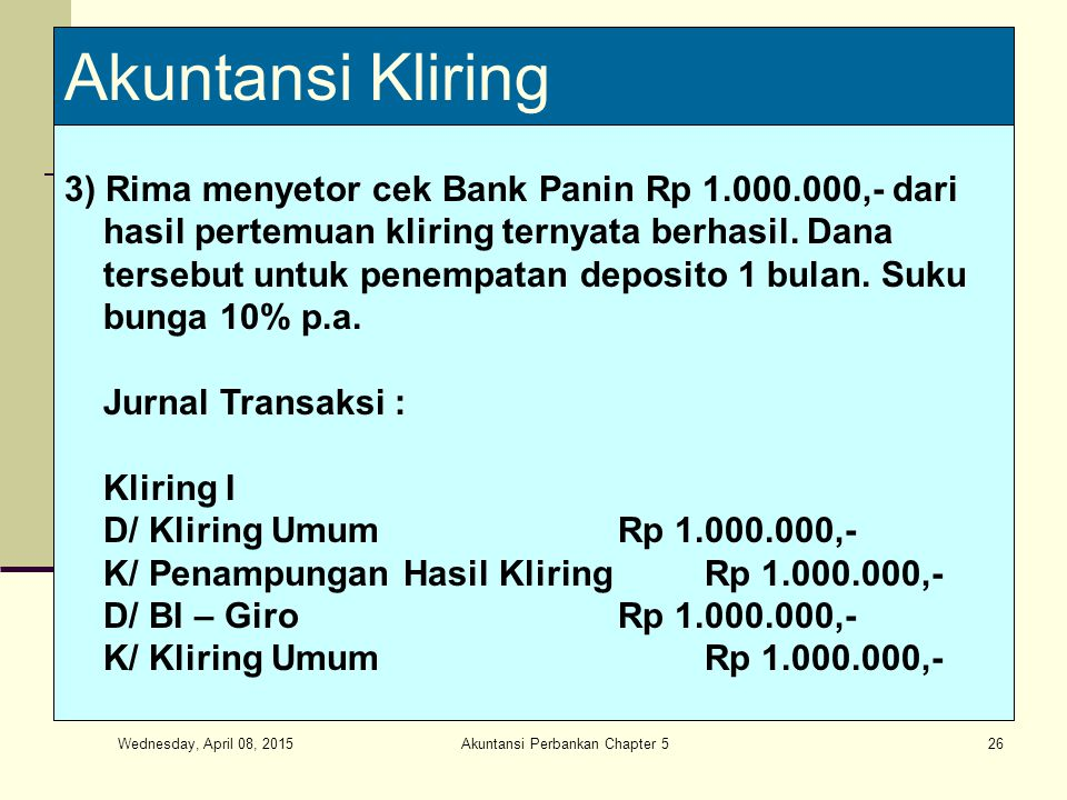 Akuntansi Perbankan Chapter 5
