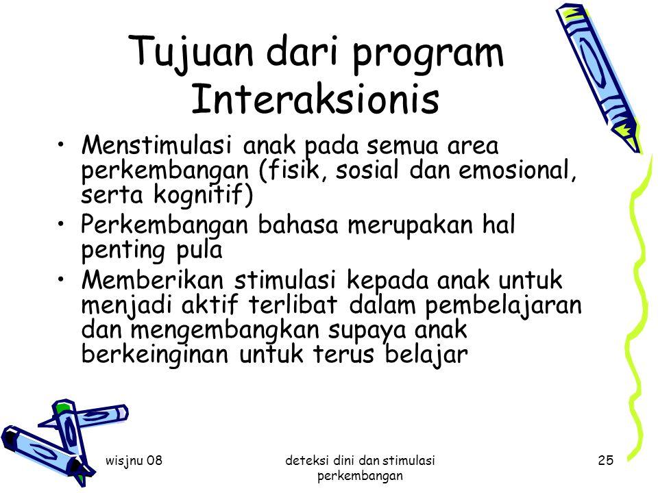 Tujuan dari program Interaksionis
