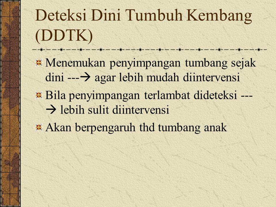 Deteksi Dini Tumbuh Kembang (DDTK)