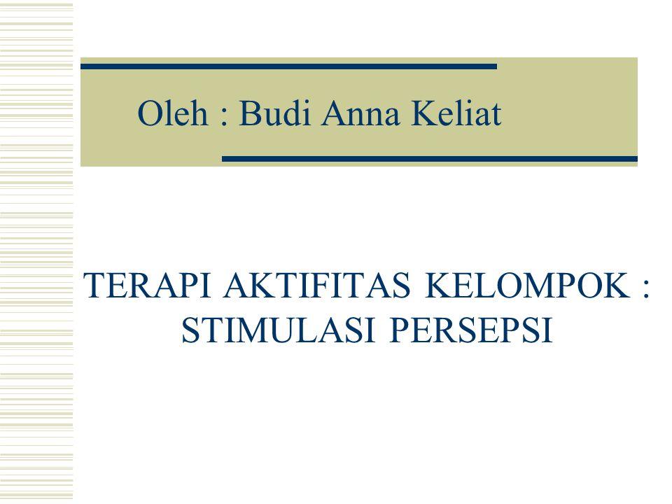 TERAPI AKTIFITAS KELOMPOK : STIMULASI PERSEPSI