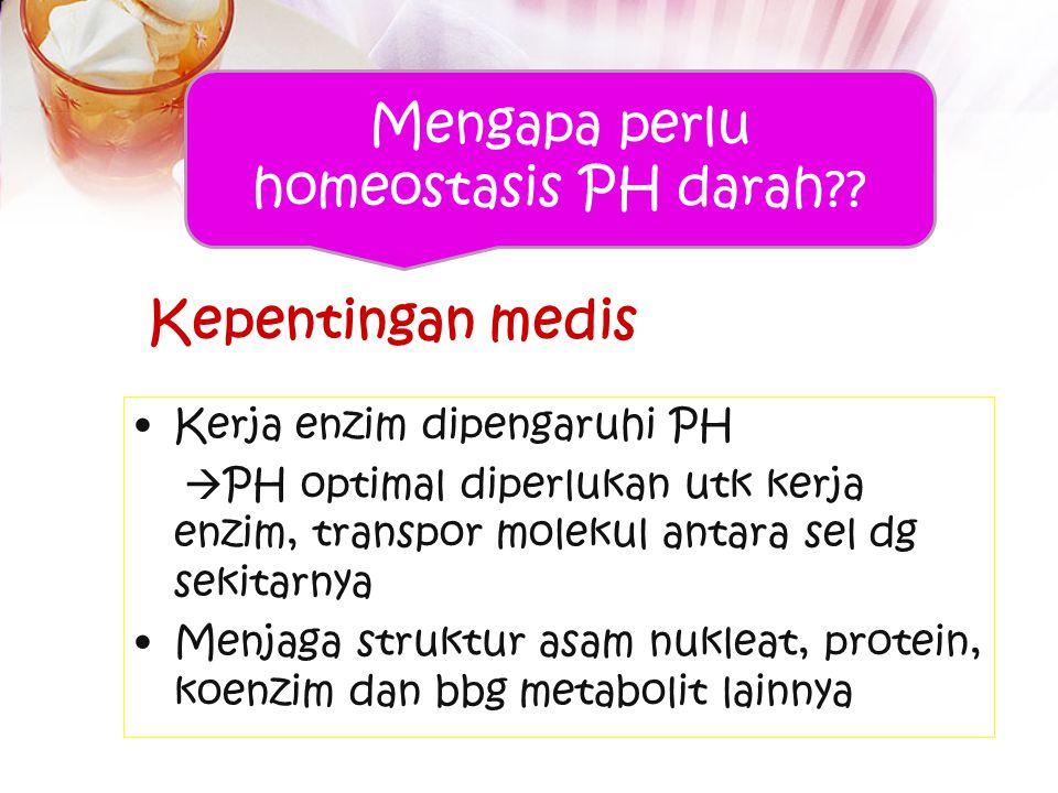 Mengapa perlu homeostasis PH darah