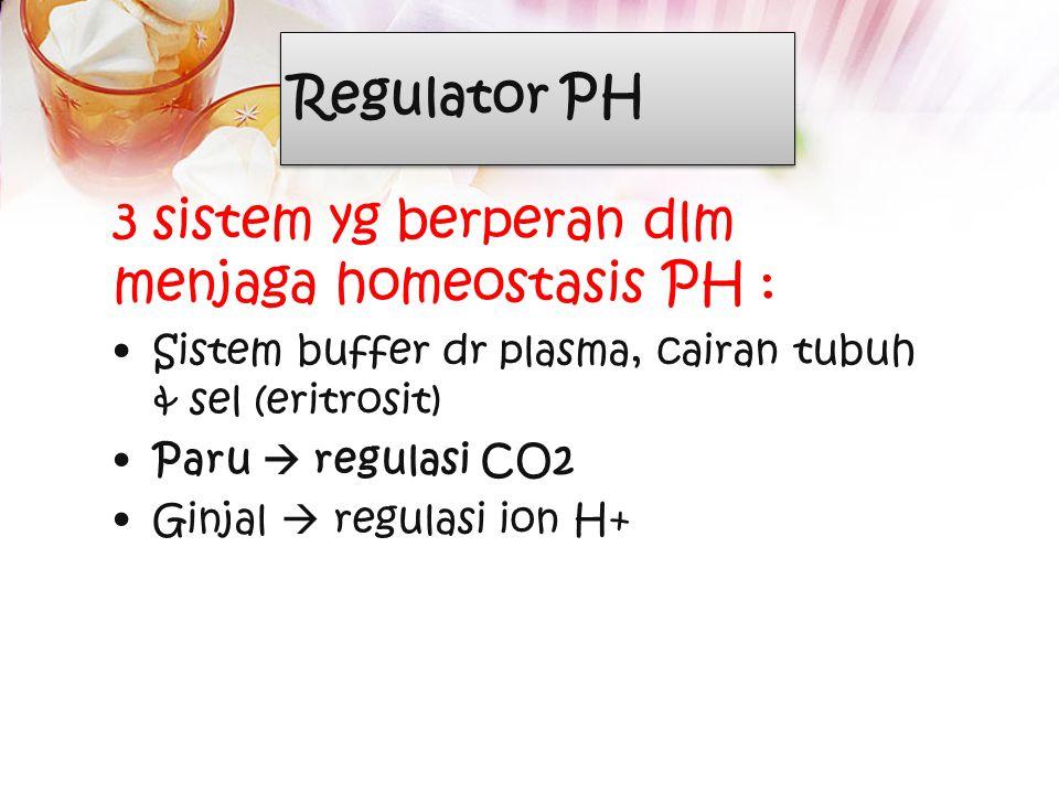 3 sistem yg berperan dlm menjaga homeostasis PH :