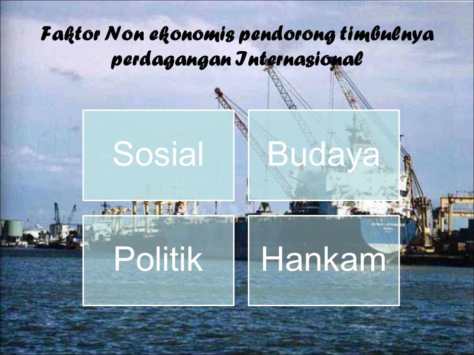 Faktor Non ekonomis pendorong timbulnya perdagangan Internasional