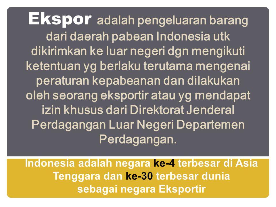 sebagai negara Eksportir