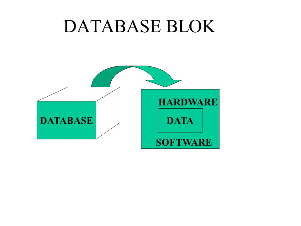 DATABASE BLOK HARDWARE DATABASE DATA SOFTWARE