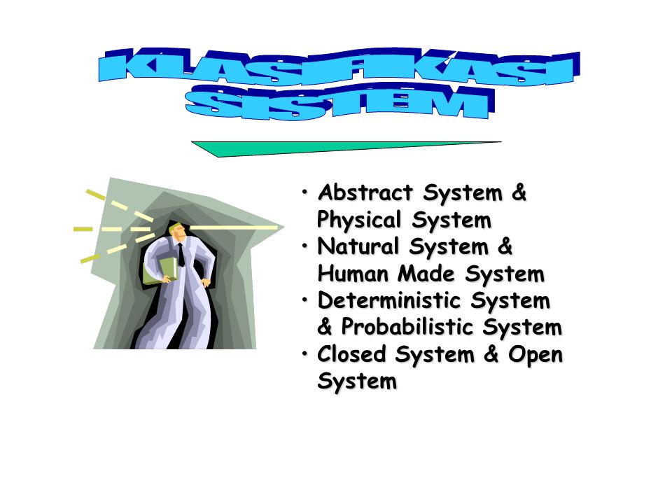 KLASIFIKASI SISTEM Abstract System & Physical System Natural System &