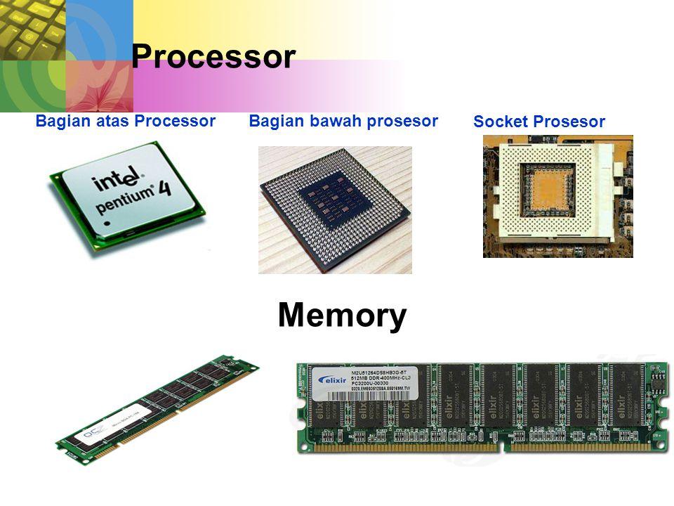 Processor Memory Bagian atas Processor Bagian bawah prosesor