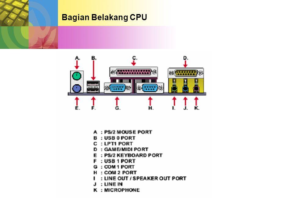 Bagian Belakang CPU