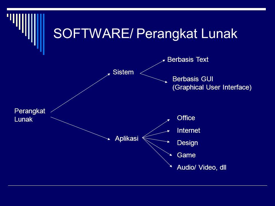 SOFTWARE/ Perangkat Lunak