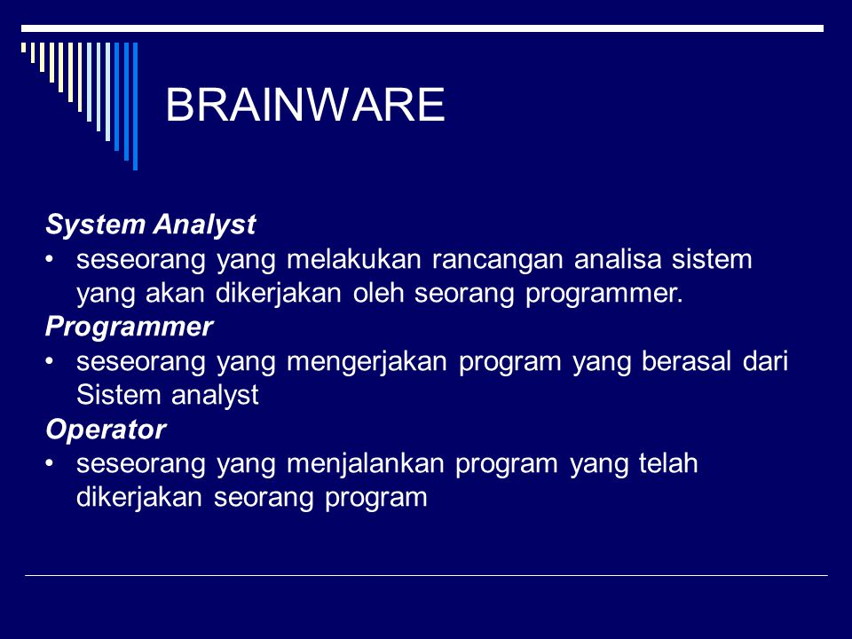 BRAINWARE System Analyst