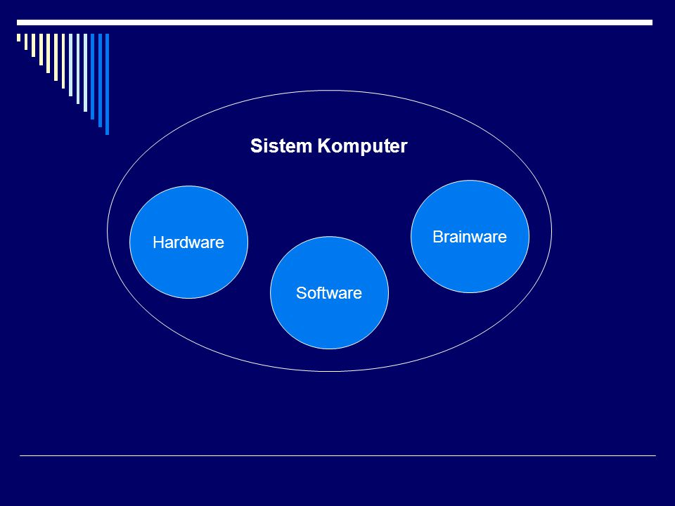 Sistem Komputer Brainware Hardware Software