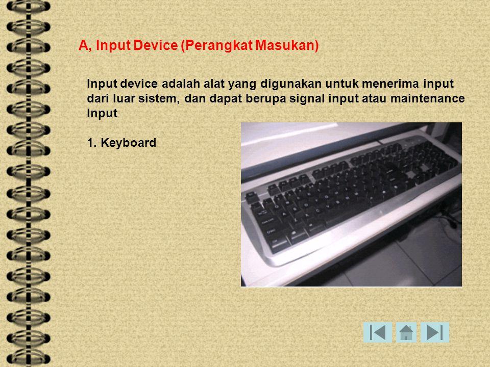 A, Input Device (Perangkat Masukan)