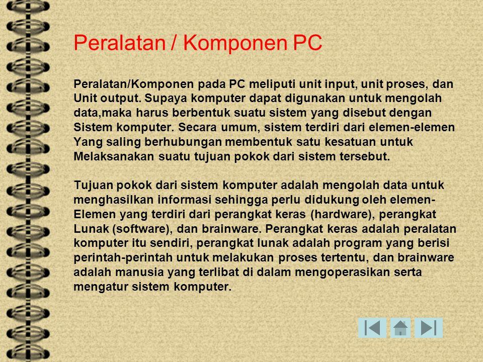 Peralatan / Komponen PC