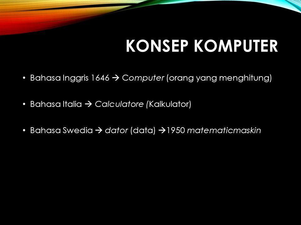 Konsep komputer Bahasa Inggris 1646  Computer (orang yang menghitung)