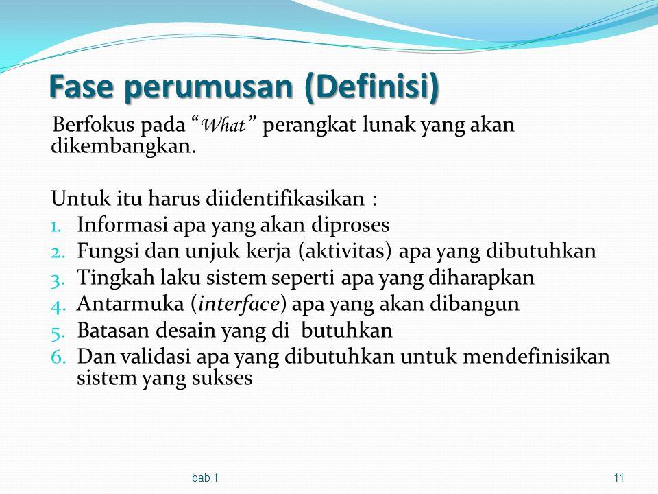 Fase perumusan (Definisi)