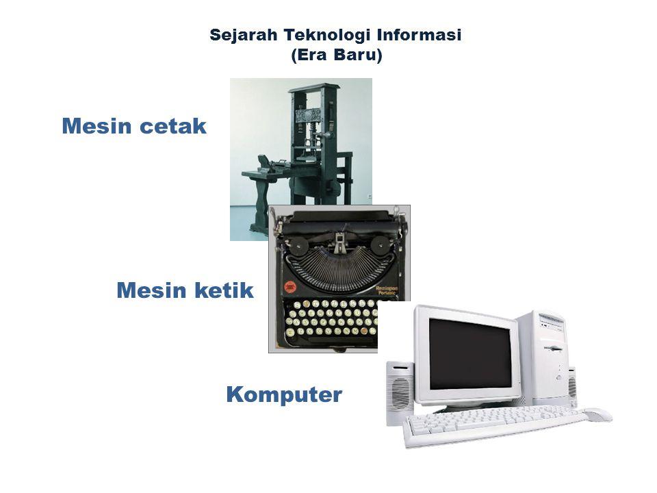 Mesin cetak Mesin ketik Komputer Sejarah Teknologi Informasi