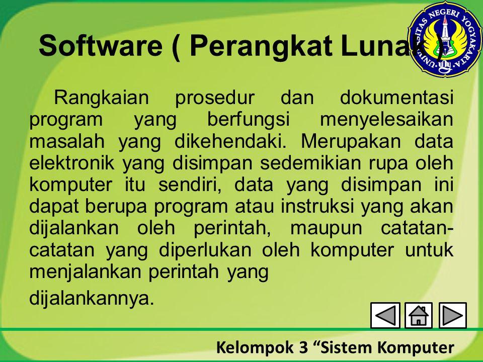 Software ( Perangkat Lunak )
