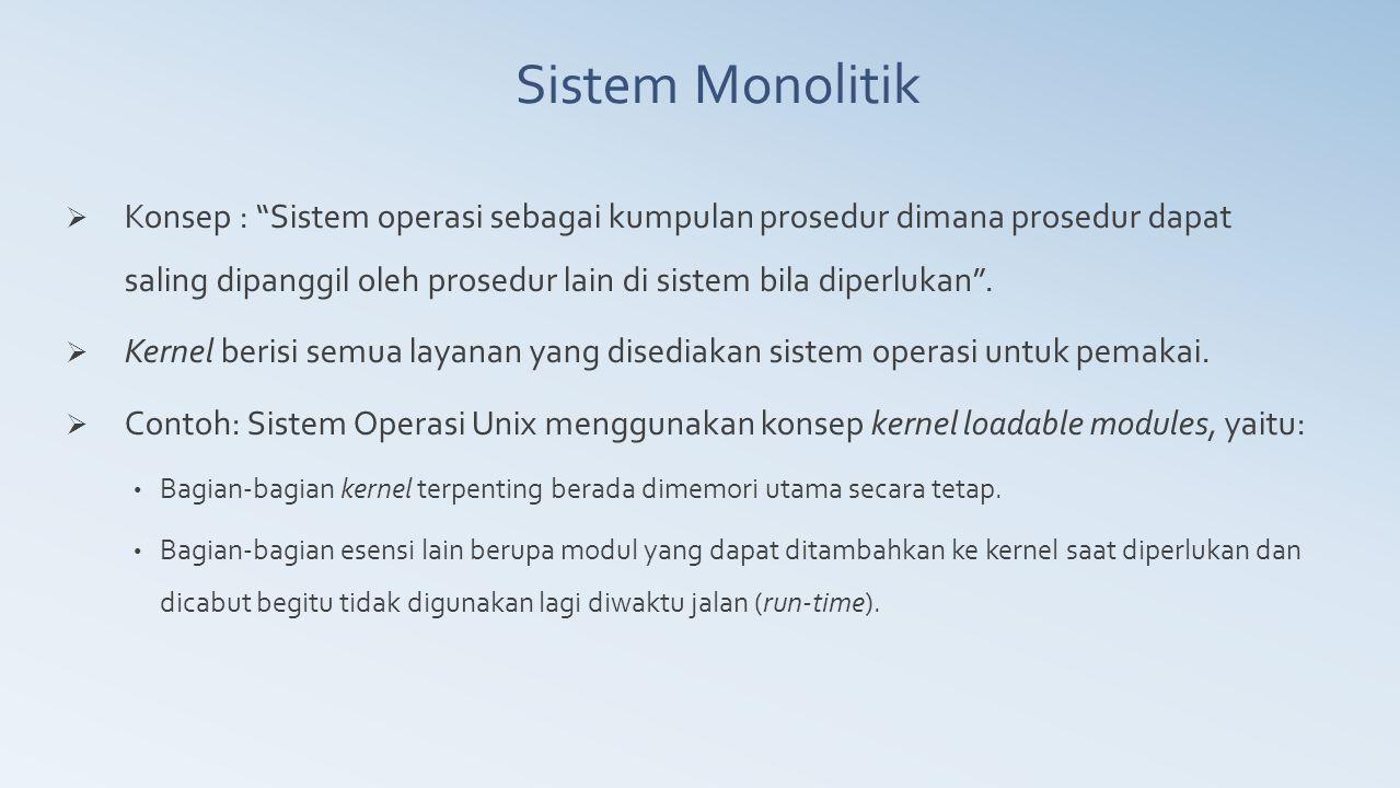 Sistem Monolitik