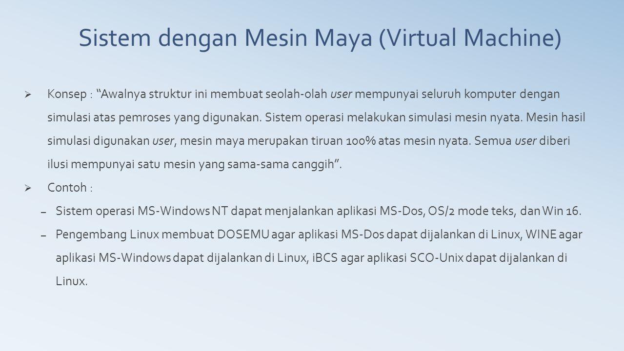 Sistem dengan Mesin Maya (Virtual Machine)