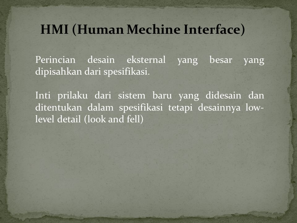 HMI (Human Mechine Interface)